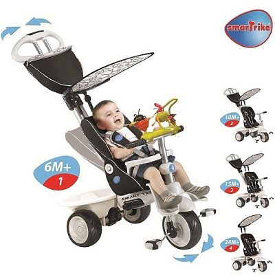 Smart Trike Tricicleta Smart Trike Recliner Stroller 4 in 1 Negru
