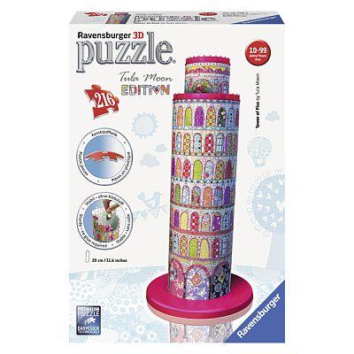 Ravensburger Puzzle 3D  Turnul din Pisa - Colorat, 216 Piese
