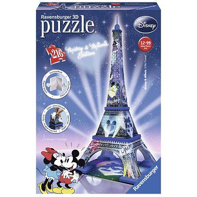 Ravensburger Puzzle 3D  Turnul Eiffel - Mickey & Minnie 216 Piese