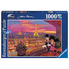 Ravensburger Puzzle Disney apusul la Paris, 1000pcs