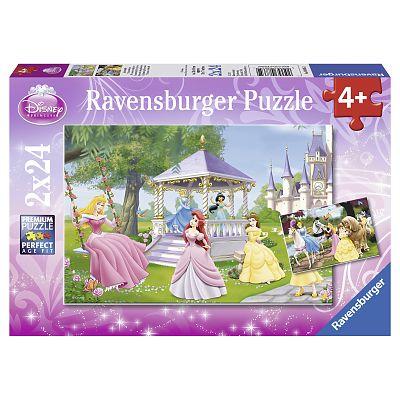 Ravensburger Puzzle Printesele Incantatoare, 2x24 piese