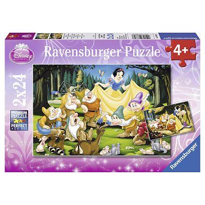 Ravensburger Puzzle Alba Ca Zapada Si Cei Sapte Pitici, 2x24 piese