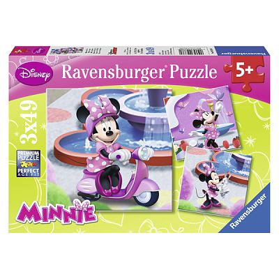 Ravensburger Puzzle Minni Mouse in Parc, 3x49 piese