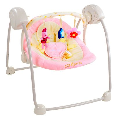 CANGAROO Leagan Electric Bebelusi Baby Swing Roz