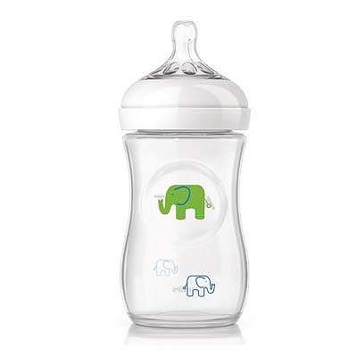 PHILIPS AVENT Biberon 260 ml, Elefant, Natural