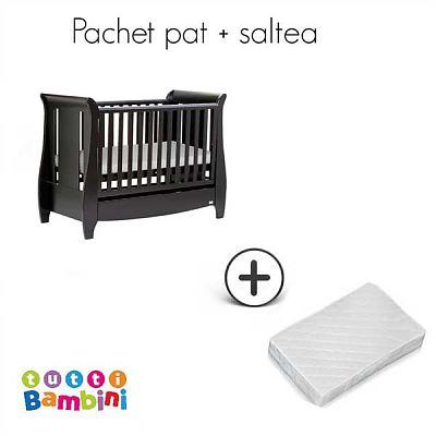 Tutti Bambini Set patut pentru bebelusi Lucas Expresso + salteluta