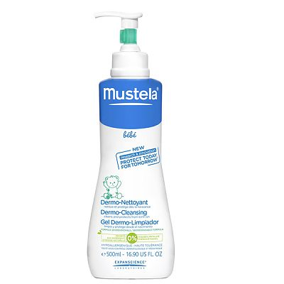 Mustela Gel spumant fara sapun Dermo-Cleansing pentru par si corp, 500 ml