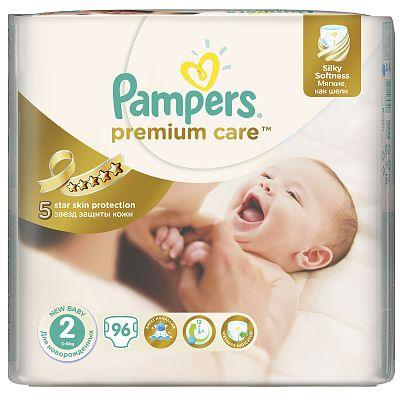 Pampers Scutece nr. 2 Premium Care, 3-6 kg, 96 bucati