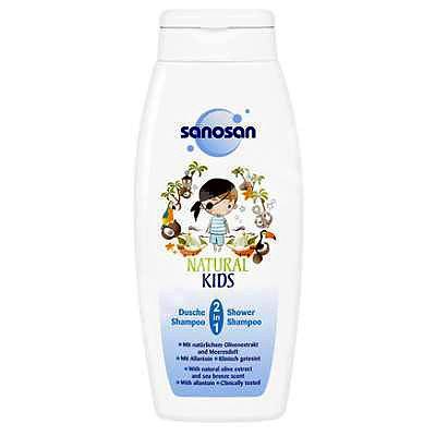 Sanosan NATURAL KIDS Sampon si gel de dus 2in1 pentru baieti, 250 ml