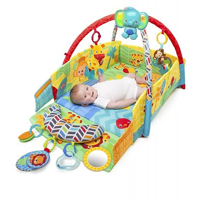 Bright Starts Salteluta de joaca 5 in 1 Sunny Safari Baby's Play Place
