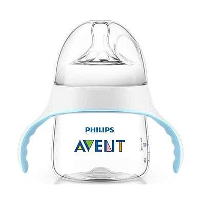 PHILIPS AVENT Kit de trecere de la biberon la cana tetina silicon debit mediu Natural, +4 luni, 150 ml