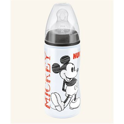 Nuk Disney Mickey Mouse Biberon First Choice Plus din PP 300ml+Tetina silicon orificiu Mediu mar.2 +6 lu
