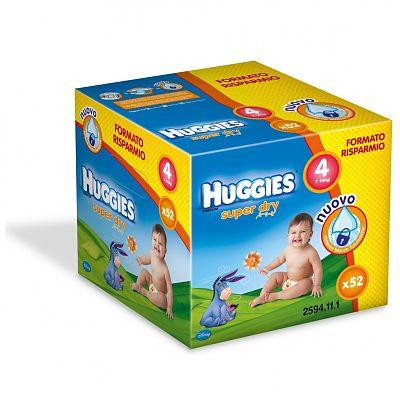 Huggies Scutece copii Super Dry Nr 4, 7-14 kg, 52 bucati