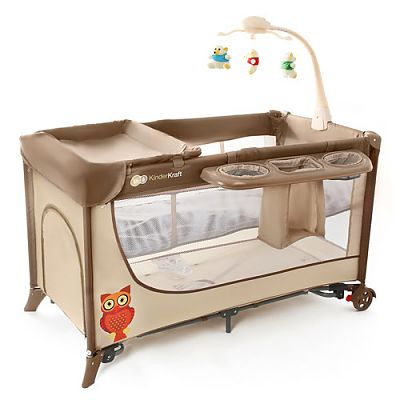 Kinderkraft Patut pliabil Joy Completo Brown