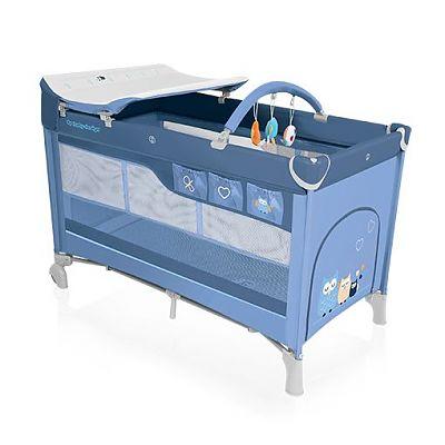 Baby Design Patut pliant cu 2 nivele Dream 03 blue 2016