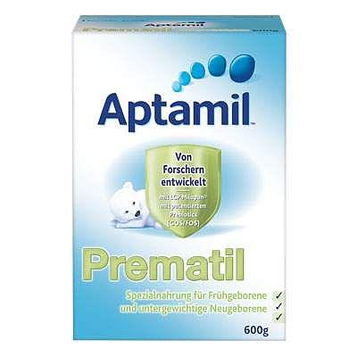 Nutricia Aliment special pentru prematuri Aptamil Prematil, Gr. 0 luni, 600 g