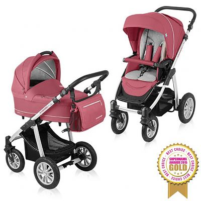 Baby Design Carucior Multifunctional 2 in 1 Lupo Comfort 08 Raspberry 2015