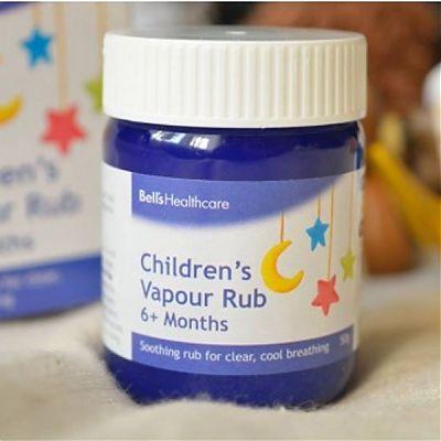 Bells Healthcare Crema pentru respiratia usoara a bebelusului - Vapour Rub
