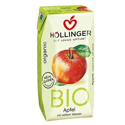 Hollinger Suc Organic cu pai de Mere 200 ml