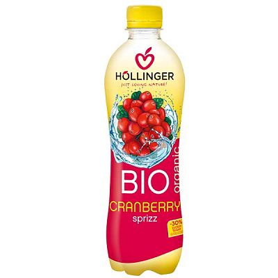 Hollinger Suc Ecologic de Merisoare Carbogazos 500ml