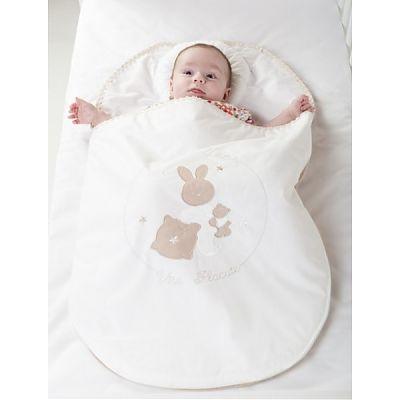 BebeDeco Sac De Dormit Somn Usor Pentru Nou Nascuti Cu Perna Impotriva Plagioencefaliei-Alb