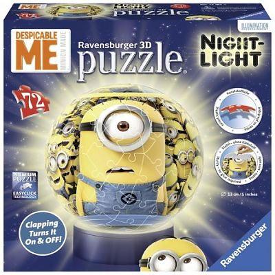 Ravensburger Puzzle 3D luminos, MINIONS, 72pcs