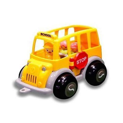 Viking Toys Autobuz scolar cu sofer si 2 elevi - Midi