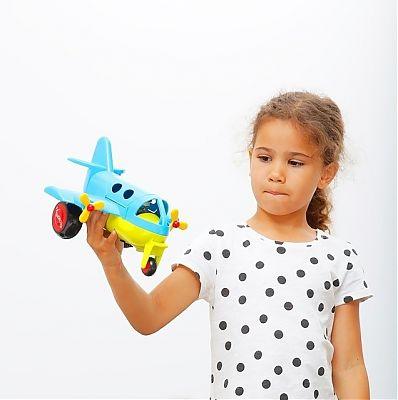 Viking Toys Avion culori vesele cu 2 figurine - Jumbo