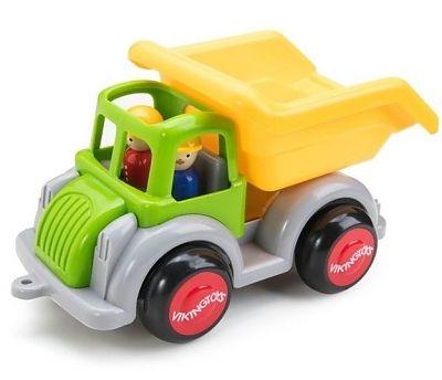 Viking Toys Camion Autobasculanta culori vesele cu 2 figurine - Jumbo