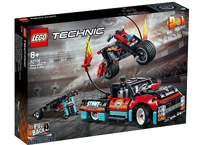 LEGO Technic Camion si motocicleta pentru cascadorii