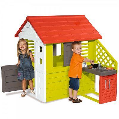 Smoby Casuta cu bucatarie pentru copii Smoby Nature