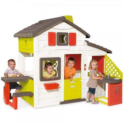 Smoby Casuta pentru copii Smoby Friends Playhouse cu bucatarie