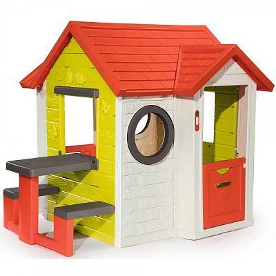 Smoby Casuta pentru copii Smoby My House cu masuta picnic