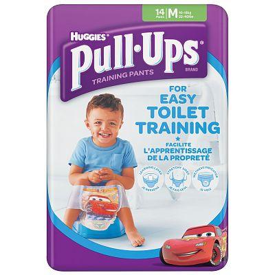 Huggies Chilotei pentru baieti trecerea la olita Pull Ups, 11-18 kg, Marimea M, 14 bucati