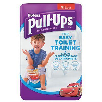 Huggies Chilotei pentru baieti trecerea la olita Pull Ups, 16-23 kg, Marimea L, 12 bucati