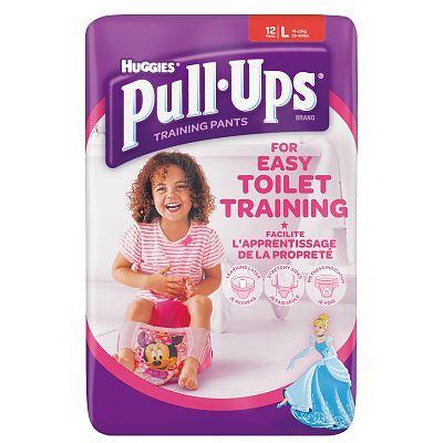 Huggies Chilotei pentru fete trecerea la olita Pull Ups, 16-23 kg, Marimea L, 12 bucati