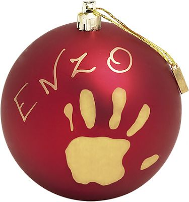 Baby Art Christmas Ball Red