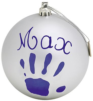 Baby Art Christmas Ball Silver