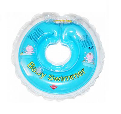 BabySwimmer Colac de inot pentru gat CLASIC  cu zornaitoare 0-36 luni (6-16 kg) BLEU