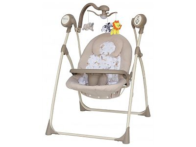 CANGAROO Leagan Electric Copii Cu Muzica Baby Mix SW102RC Beige