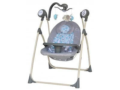 CANGAROO Leagan Electric Copii Cu Muzica Baby Mix SW102RC Gri