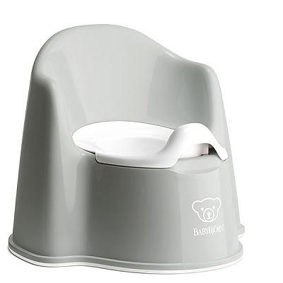 BabyBjorn Olita cu protectie spate Potty Chair Grey / White