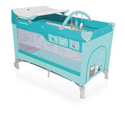 Baby Design Patut pliant cu 2 nivele Dream 05 turquoise 2018
