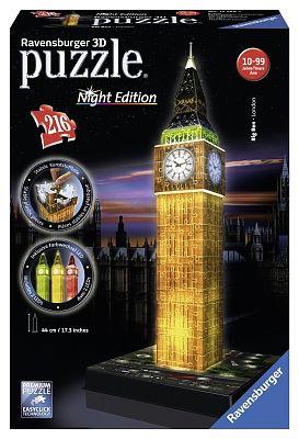 Ravensburger Puzzle Big Ben Luminoasa 3D - 216 piese