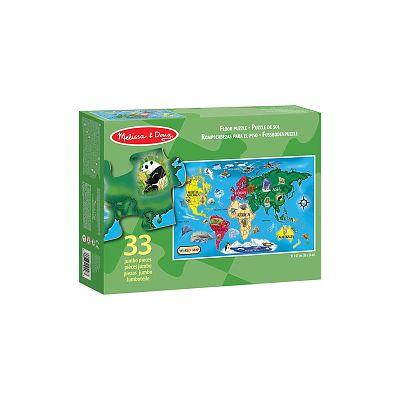 Melissa&Doug Puzzle de podea Harta lumii
