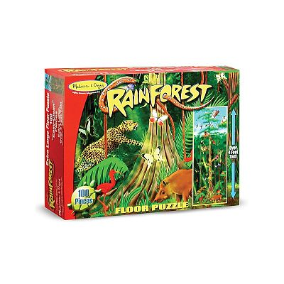 Melissa&Doug Puzzle de podea Padurea Tropicala 100 pcs