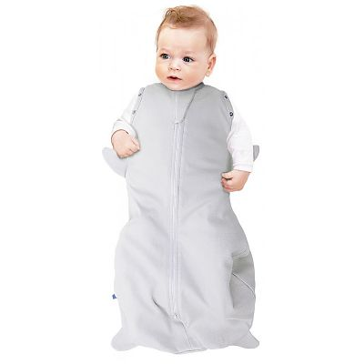 Wallaboo Sac de dormit Fun Animal 2in1 pinguin silver -3-6 luni