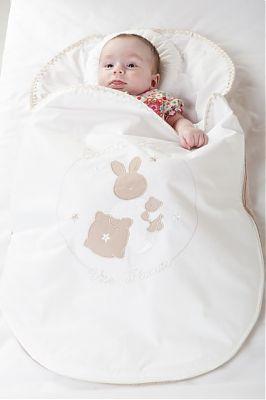 BebeDeco Sac De Dormit Somn Usor Pentru Nou Nascuti Cu Perna Impotriva Plagioencefaliei alb