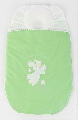 BebeDeco Sac De Dormit Somn Usor Pentru Nou Nascuti Cu Perna Impotriva Plagioencefaliei verde