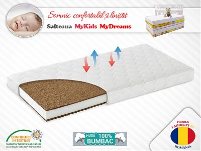 MyKids Saltea MyKids Cocos Confort II 140x70x12 (cm)